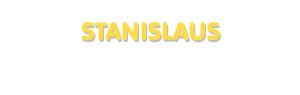 Der Vorname Stanislaus