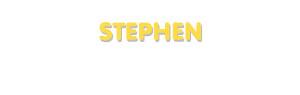 Der Vorname Stephen