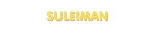 Der Vorname Suleiman