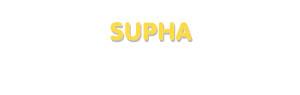 Der Vorname Supha
