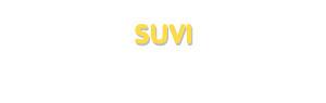 Der Vorname Suvi