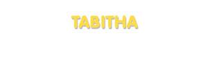 Der Vorname Tabitha