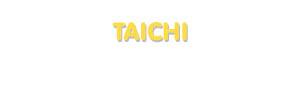 Der Vorname Taichi
