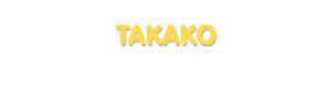Der Vorname Takako