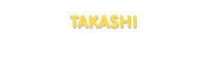Der Vorname Takashi