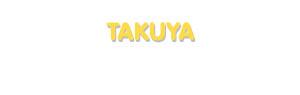 Der Vorname Takuya