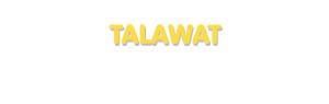 Der Vorname Talawat