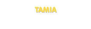 Der Vorname Tamia