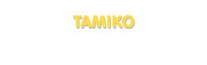 Der Vorname Tamiko