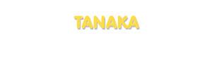 Der Vorname Tanaka