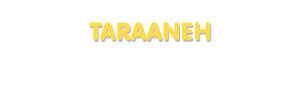 Der Vorname Taraaneh