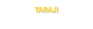 Der Vorname Taraji