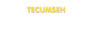 Der Vorname Tecumseh