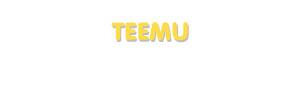 Der Vorname Teemu