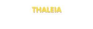 Der Vorname Thaleia