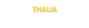 Der Vorname Thalia