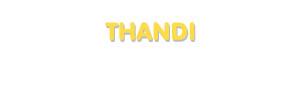 Der Vorname Thandi
