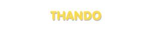 Der Vorname Thando