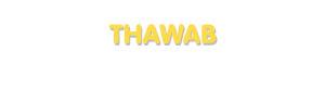 Der Vorname Thawab