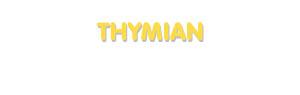 Der Vorname Thymian