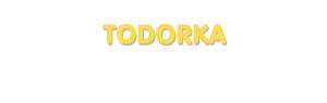 Der Vorname Todorka