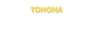 Der Vorname Tohona