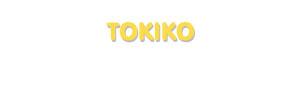Der Vorname Tokiko