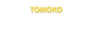 Der Vorname Tomoko
