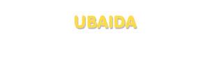 Der Vorname Ubaida