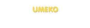 Der Vorname Umeko