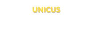Der Vorname Unicus