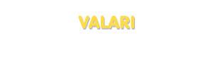 Der Vorname Valari