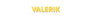 Der Vorname Valerik