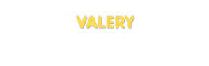 Der Vorname Valery