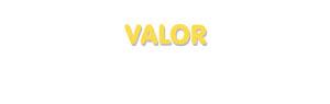 Der Vorname Valor