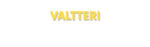 Der Vorname Valtteri