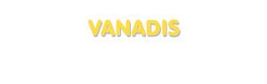 Der Vorname Vanadis