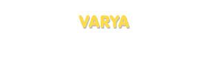 Der Vorname Varya