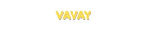Der Vorname Vavay