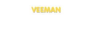 Der Vorname Veeman