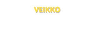 Der Vorname Veikko