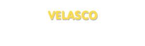 Der Vorname Velasco