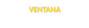 Der Vorname Ventana