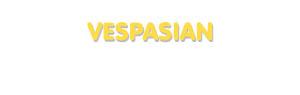 Der Vorname Vespasian
