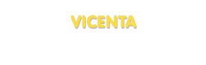 Der Vorname Vicenta