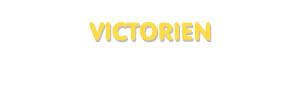 Der Vorname Victorien