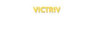 Der Vorname Victriv