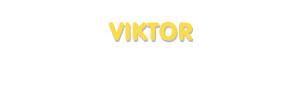 Der Vorname Viktor