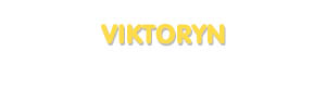Der Vorname Viktoryn