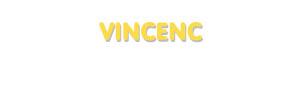 Der Vorname Vincenc
